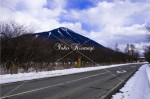 金精道路と男体山