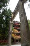 東照宮の石鳥居と五重塔