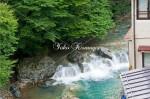 山口館からの河の流れ