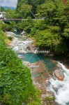 甌穴のある四万川の流れ