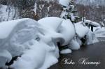 雪のモニュメント